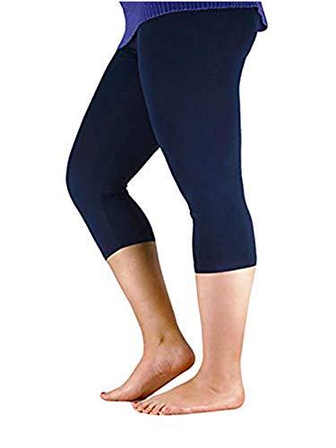 - Century Star Women's Modal Plus Size Basic Solid Capri Leggings Navy US 1X Plus-US 2X Plus(Tag 5XL)