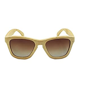 Handmade Bamboo Wood Sunglasses Men Square Sun Glasses For Men women Outdoor Goggles lunettes (brown)