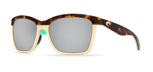 Costa Del Mar Anaa Sunglasses Retro Tort/Cream/Mint / Silver Mirror - Sunglasses Direct Discount