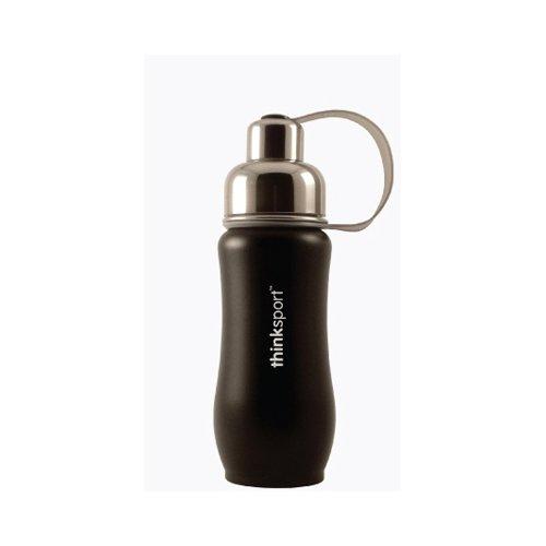 Thinksport Stainless Steel Sports Bottle - Black - 12 oz