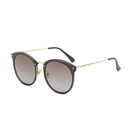 Sunglasses- Gafas de Sol polarizadas Marea Femenina Gafas de Sol de miopía Coreana Actriz Femenina