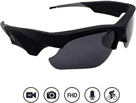 Yumfond Sunglasses Camera, Waterproof 1080p HD Video Camera With Polarized Lens,...