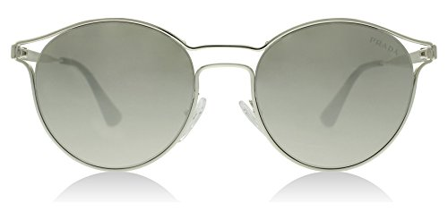 Prada Women's 0PR 62SS Silver/Light Grey/Mirror ()