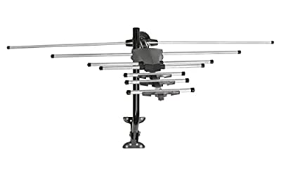 GE 33685 Pro Outdoor Antenna with Mount - Long Range Outdoor / Attic Yagi HDTV Antenna for VHF / UHF Channels - 70 Mile Range from General Electric