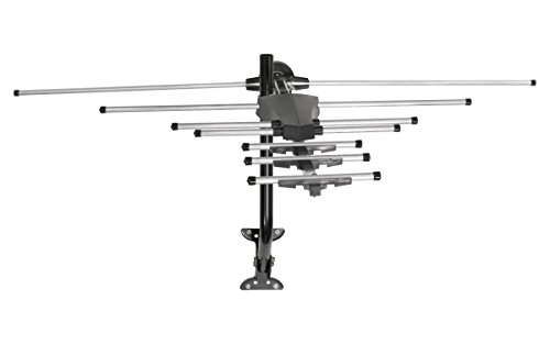 GE 33685 Pro Outdoor Antenna with Mount - Long Range Outdoor / Attic Yagi HDTV Antenna for VHF / UHF Channels - 70 Mile Range