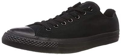 Converse Unisex Chuck Taylor All Star Ox Low Top Black/Black Sneakers - 10.5 Men 12.5 Women