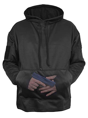 Rothco Concealed Carry Hoodie, Black, Large