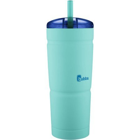 Tumbler Grip (BUBBA S ENVY 24 oz Stainless Steel Tumbler | Secure Straw | Double Wall Vacuum Seal | Keeps drinks cool and hot | Removable lid | No sweating easy-grip (Island Teal/Blue Top))