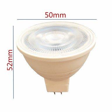 GU5.3 MR16 7W LED Spotlight 6 SMD 3030 580 lm Warm White/ White AC 220 V 5pcs , 220v
