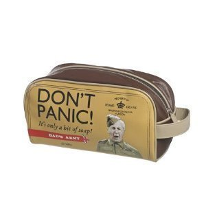 8590cd0a5311 Amazon.com: Dad's Army - Don't Panic! Faux Leather Wash Bag by Dad's ...