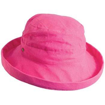 (SCALA Women's Medium Brim Cotton Hat, Crimson Rose, One Size )