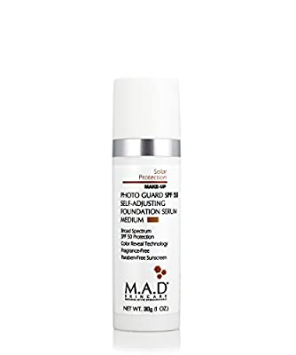 M.A.D Skincare Photo Guard SPF 50 Broad Spectrum Self-Adjusting Foundation Serum - Medium - by Maximum Active Dermaceuticals