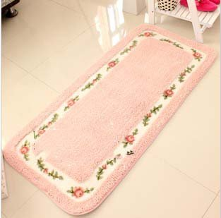 B00E1E35TY Rural Cute Rose Pattern Bedroom Carpet Floral Area RugLiving Room Rugs