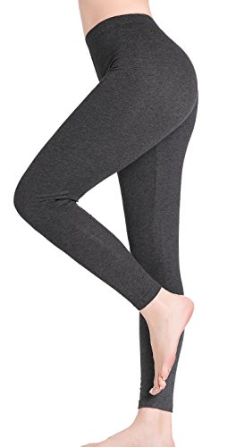 22a4755af22361 CnlanRow Womens Workout Leggings Running Pants Stretch Soft Relaxed Ankle  Length Regular