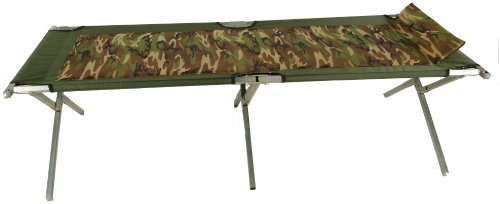 Blantex XT-3 Camo Oversized Steel Army Cot with Foam Pad and Pillow