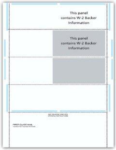 EGP IRS W-2 Blank 4-Up Horizontal Pressure Seal Tax Form