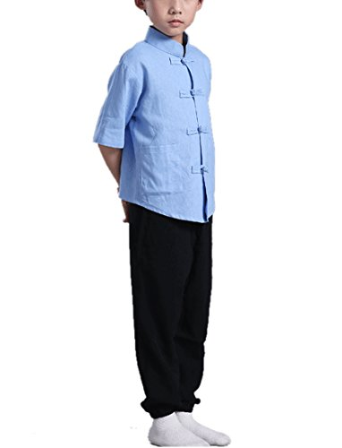 [Lemail wig Boys Traditional Chinese Ethnic Clothes Tang Suit Outfit Men Costume] (Ethnic Costume For Men)