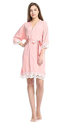 Dress Set SAINDERMIRA Pink Sleepwear cotone S~L da in donna Pigiama qrrXz07