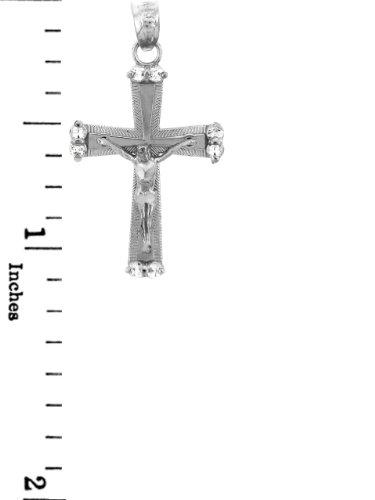 10 ct 471/1000 Or Blanc Crucifix - La Sacree Crucifix Pendentif