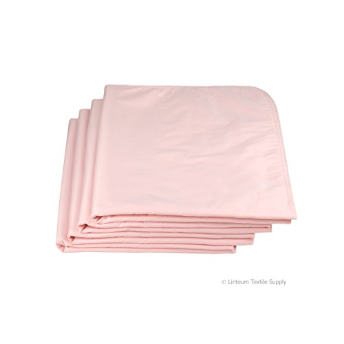 (Linteum Textile (1-Piece, 34x36 in, Pink) WASHABLE REUSABLE UNDERPADS, Made In the USA, Twill Face Fabric, Waterproof Incontinence Bed)