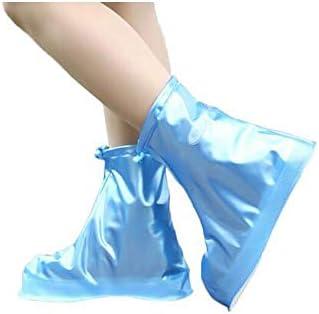防水靴カバー、男性と女性の厚い防水靴カバー、子供の普遍的な滑り止めのレインブーツ大きいサイズ45 46茶色XXL(43〜44ヤード)