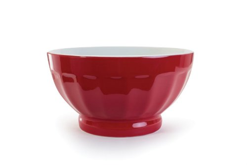 Fluted 16 oz. Bowl [Set of 4] Color: Red