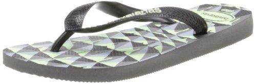 Havaianas Men's 4 Nite Flip-Flop,Grey/Black/Phosphorescent,45 BR/12-13 M US