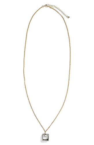 Granite Drop Pendant - Women's Topshop Granite Drop Necklace, Gold/Steel