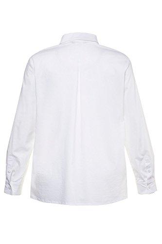 Tailles Col Blouse Grandes Boutons Femme Tops Casual Hauts Blanc Femme Chemise Popken Manches Unie V Ulla 714168 Shirt Longues 6qtxgp0wf