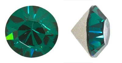 - Swarovski Elements Crystal Emerald Chatons (Pp32, Approx. 4mm, Xillion Round Cut)