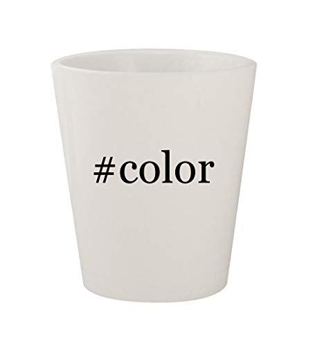 #color - Ceramic White Hashtag 1.5oz Shot Glass]()