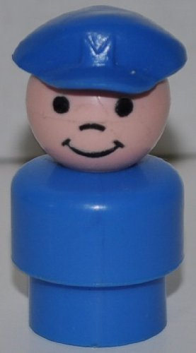 Little Pilots Plastic (Vintage Little People Pilot Driver (Blue Hat & Blue Plastic Base) (Peg Style) - Replacement Figure - Classic Fisher Price Collectible Figures - Loose Out Of Package & Print (OOP) - Zoo Circus Ark Pet Castle)