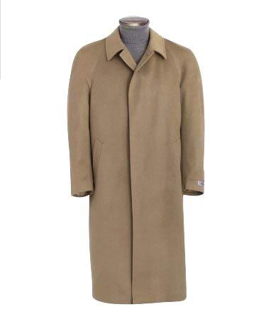 (Men's Full Length Cashmere Blend Overcoat (Camel,)
