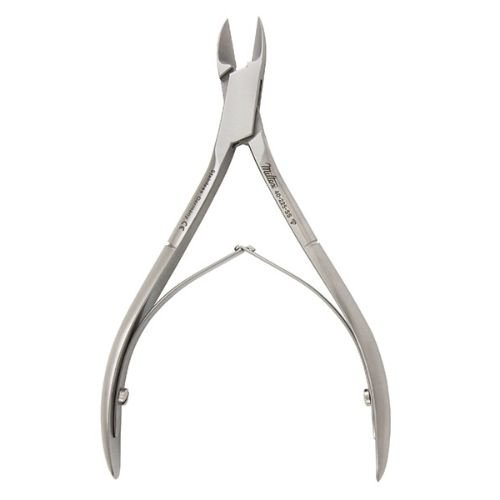 Miltex 40-225-SS Stainless Steel Double Spring Nail Nipper, Straight Jaw, 11.4 cm Length