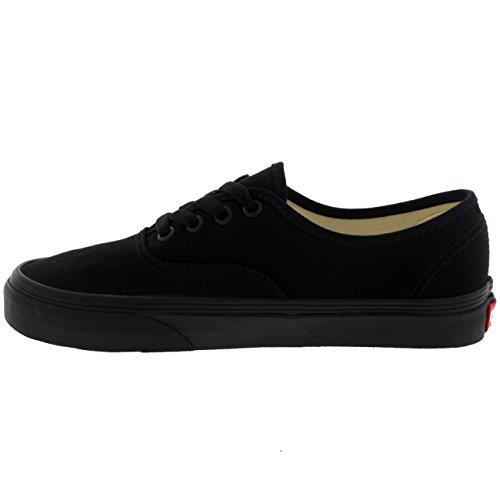 Vans Authentic Unisex Skate Trainers Shoes Black/Black 9 B(M) US Women/7.5 D(M) US Men by Vans (Image #3)