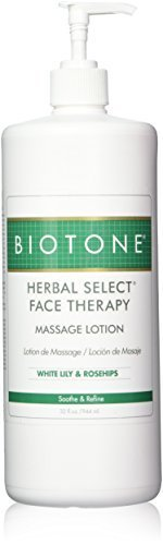 (Biotone Herbal Select Face Therapy Massage Lotion - 32oz Pump Bottle)