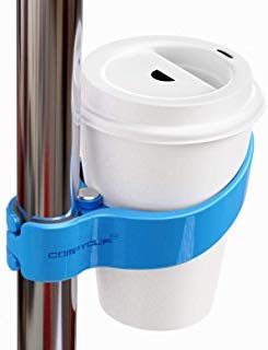 "Comfycupâ""¢ - The World's First Portable Public Transportation Cup Holder for Trains Buses Bikes (Blue)"