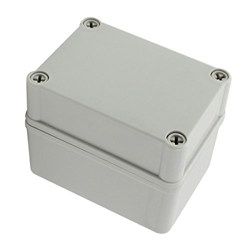 YXQ 110 x 80 x 85mm Junction Box Enclosure Project Case Dustproof Waterproof DIY Power Electronic Outdoor Gray (4.3 x 3.2 x 3.4 inches) ()