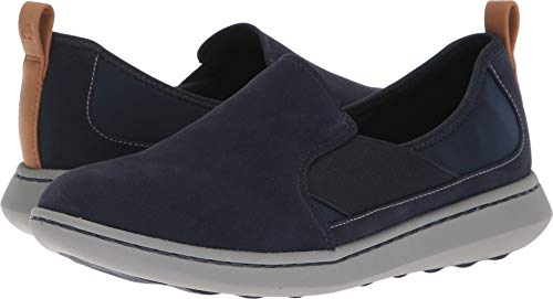 CLARKS Women's Step Move Jump Sneaker, Navy Synthetic, 060 M US