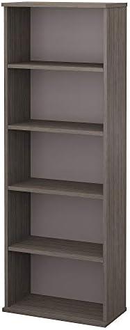 Bush Furniture Commerce Bookcase Pewter