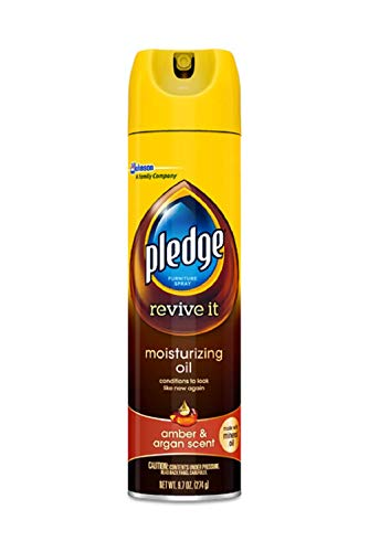 Pledge Moisturizing Oil Furniture Spray, Amber & Argan Scent 9.70 oz