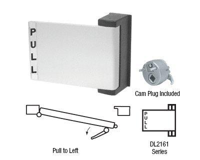 CRL Satin Aluminum Finish Universal Push-Pull Paddle Handle<BR>Pull To Left