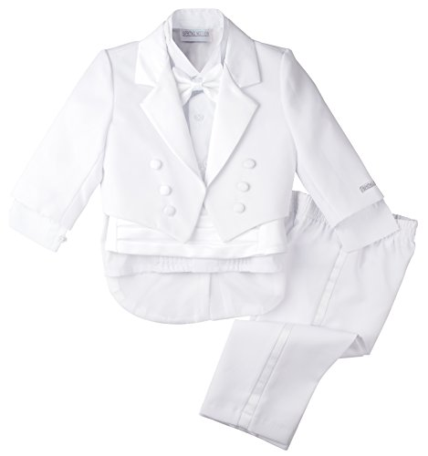 Spring Notion Baby Boys' White Classic Tuxedo with Tail 4T ()