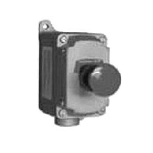 Appleton EFDB175-UM1 Push Button Station, 1 Gang, 10 Amp, 600V, 1 Circuit, Dead-End, Mushroom Head, 3/4''