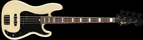 Fender Artist Series Duff McKagan Deluxe Precision Electric Bass Guitar (Pearl White) ()