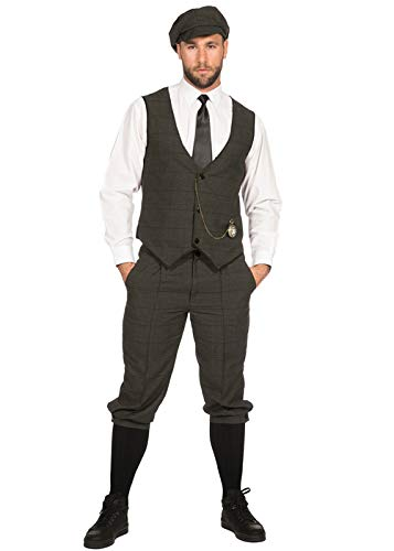 Magic Box Deluxe 1920s Dark Grey Peaky Blinders Style Disfraz Kit ...