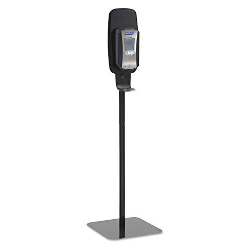 Station Sanitizing Gojo Purell - PURELL Hand Sanitizer Dispenser Floor Stand, Black, Floor Stand for use with PURELL LTX or TFX Touch-Free Sanitizer Dispensers – 2425-DS