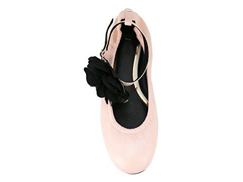Lanvin Ladies Fwbapb09exaae17 Ballerine In Pelle Rosa