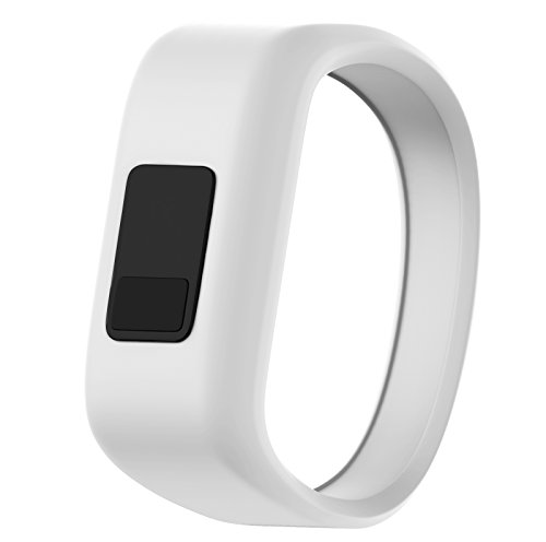 ANCOOL Compatible Garmin Vivofit JR Bands Replacement Silicone Sports Wristbands Compatible Garmin Vivofit JR/Vivofit 3(NOT Including Tracker) - Large White
