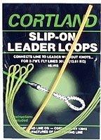 Cortland 601352 Slip-On Leader Loops Braided Clr, (Leader Loops)